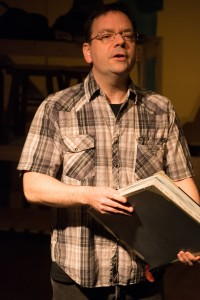 """Kevin Gladish as """"Tony"""" in """"Confederates in the Attic"""" (Photo by Tom McGrath)"""