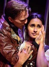 Mr. Rochester (John Henry Roberts) woos Jane (Anu Bhatt) in Lifeline's Jane Eyre. Photo provided by Lifeline Theatre