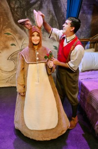 (L to R) Jamie Cahill as the Velveteen Rabbit and Christopher Acevedo as the Boy Photo by Suzanne Plunkett.