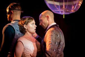 BoHo Theatre - Eurydice - Amanda Jane Long (Eurydice) and Adam Kander (Nasty Interesting Man) [Amy Boyle Photography]