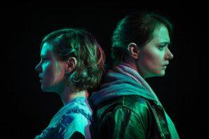 BoHo Theatre - Eurydice - Amanda Jane Long (Eurydice) and Chloe Dzielak (Orpheus) 3 [Amy Boyle Photography]